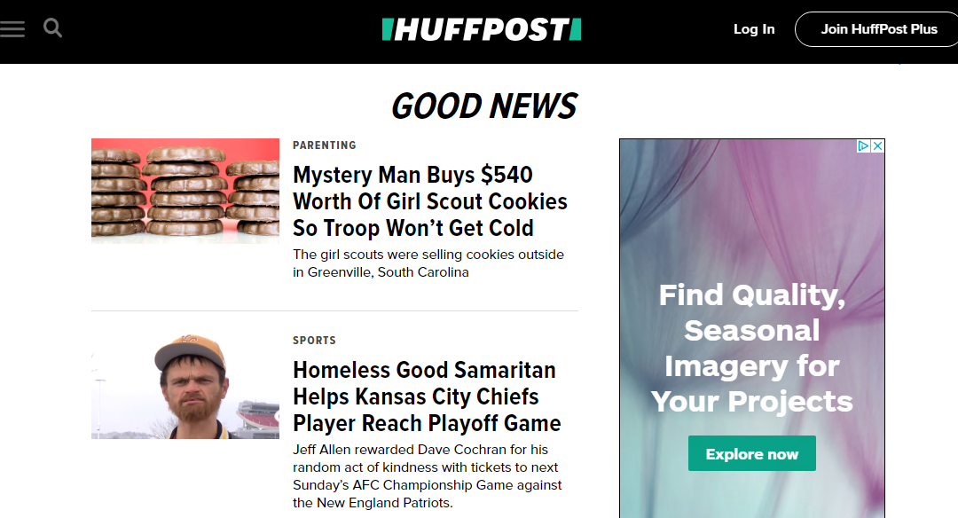 HuffingtonPost- Good News Stories