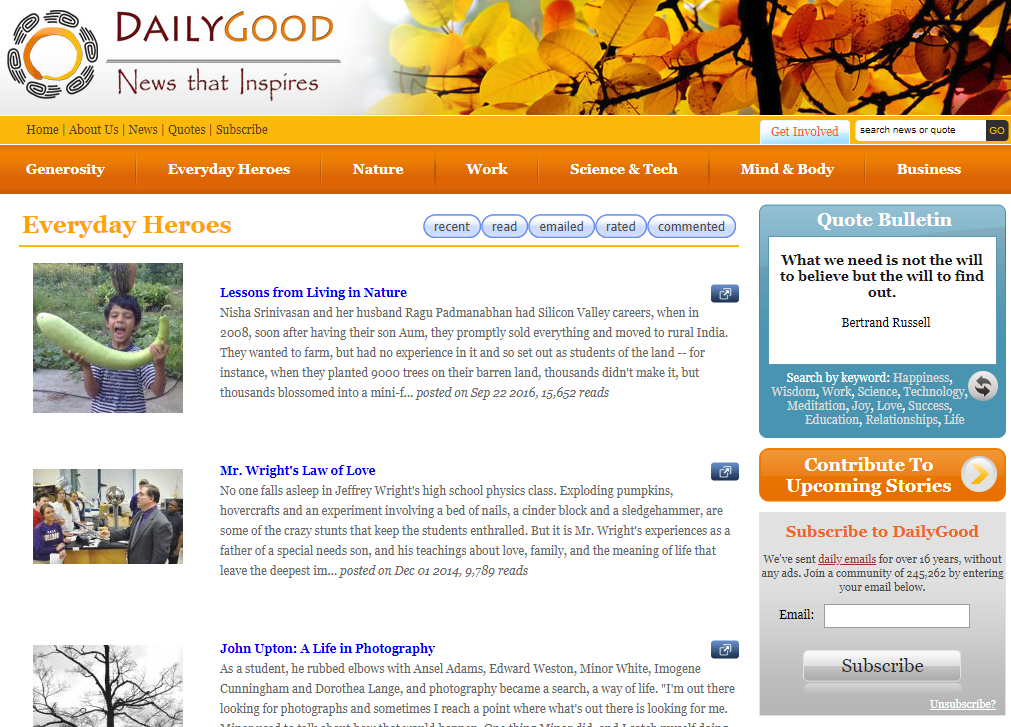 DailyGood - Good News Stories