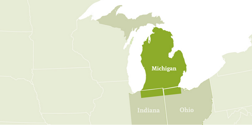 Leigh-David - Final Mile Delivery Services - Servcie Area Map for Michigan, Ohio and Indiana